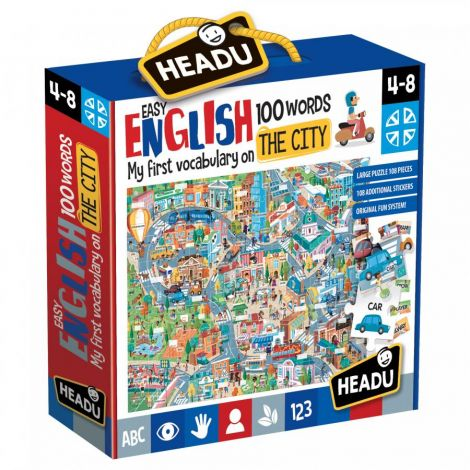 100 EASY ENGLISH WORDS PUZZLE: THE CITY (108PCS)