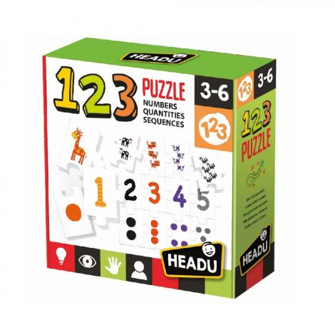 1 2 3 NUMBERS ASSOCIATION PUZZLE