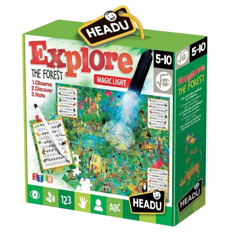 MAGIC LIGHT JIGSAW PUZZLE: EXPLORE THE FOREST (70PCS)