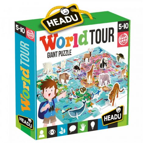 WORLD TOUR GIANT PUZZLE (108PCS)
