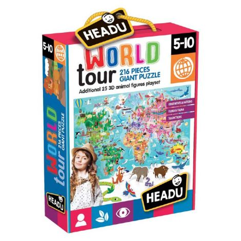 WORLD TOUR GIANT PUZZLE (216PCS)