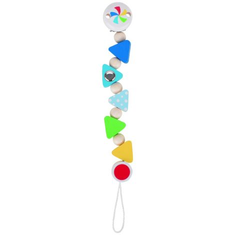TRIANGLE CONFETTI PACIFIER CHAIN
