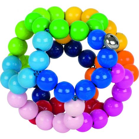 GIANT MULTI-COLOURED WOODEN TEETHING CLUTCH BALL (GLOSSY)