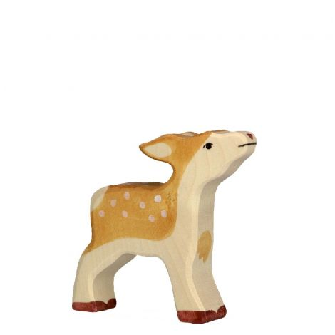 FAWN WOODEN FIGURINE