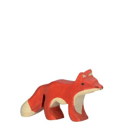BABY FOX WOODEN FIGURINE