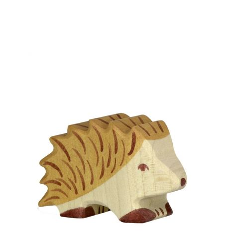 STANDING HEDGEHOG WOODEN FIGURINE