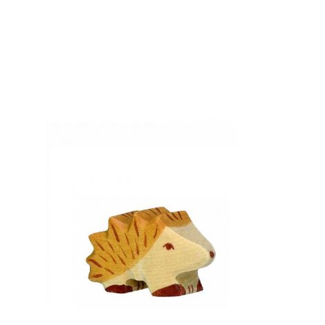 BABY HEDGEHOG WOODEN FIGURINE