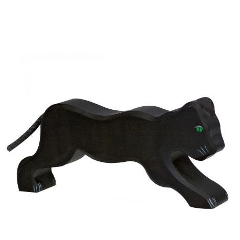 BLACK PANTHER WOODEN FIGURINE