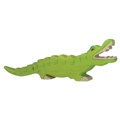 ALLIGATOR WOODEN FIGURINE