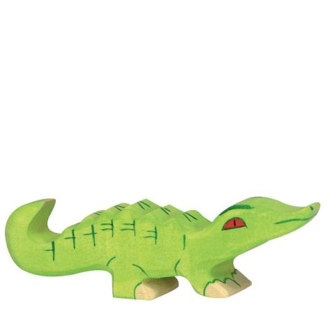 BABY ALLIGATOR WOODEN FIGURINE