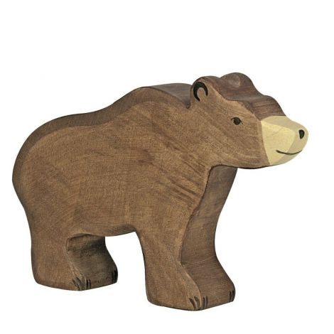 BROWN BEAR WOODEN FIGURINE