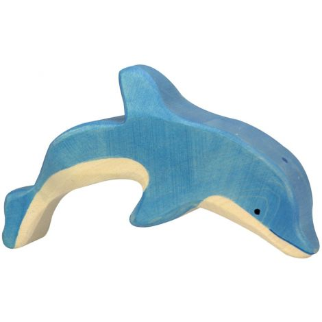 JUMPING DOLPHIN WOODEN FIGURINE