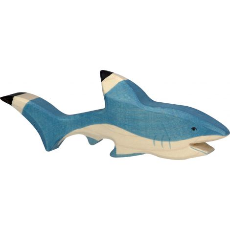 SHARK WOODEN FIGURINE