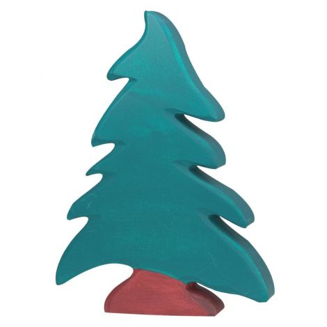 CONIFER TREE WOODEN FIGURINE (LARGE)