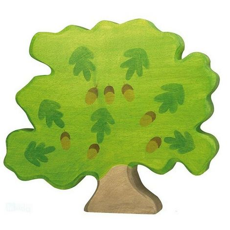 OAK TREE WOODEN FIGURINE