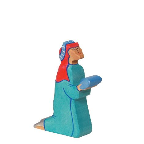 THREE WISE MEN WOODEN NATIVITY FIGURINE: BALTHASAR