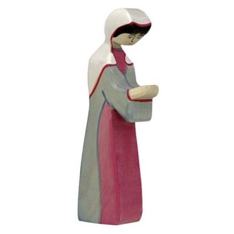 MARY WOODEN NATIVITY FIGURINE