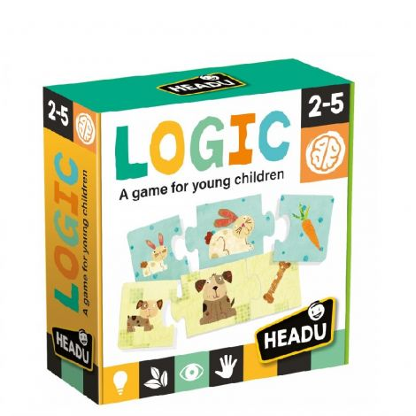 TRIO LOGIC ASSOCIATION PUZZLE: ANIMALS, THEIR YOUNG, AND FOOD