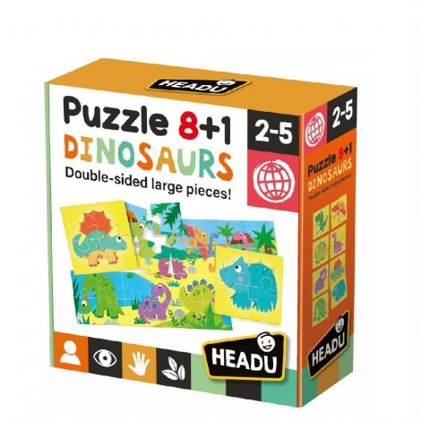 8+1 DOUBLE-SIDED PUZZLE: DINOSAURS