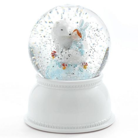 SNOW GLOBE NIGHTLIGHT: LILA & PUP