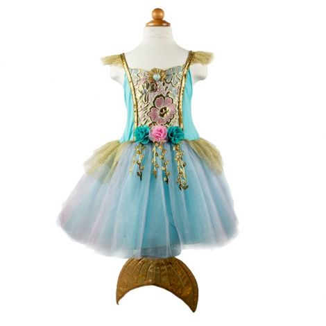 MERMALICIOUS TULLE DRESS WITH TAIL PLAY COSTUME (SIZE 5/6)