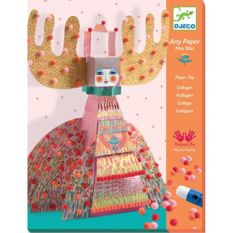 ARTY PAPER + MINI POMPOM CRAFT ACTIVITY SET: MISS BLISS