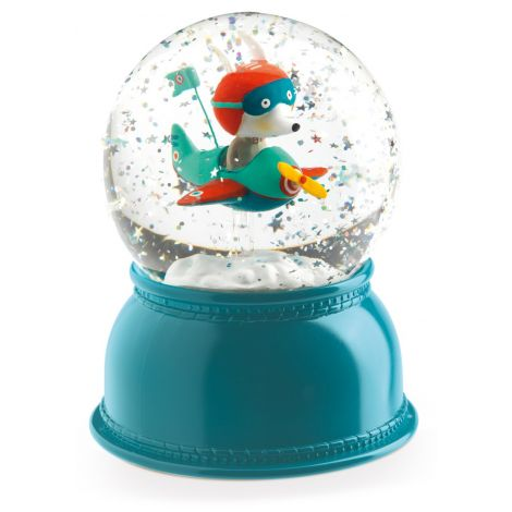 SNOW GLOBE NIGHTLIGHT: AEROPLANE