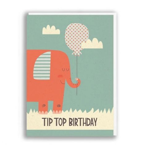 TIPTOP BIRTHDAY GREETING CARD, BY PAPER & CLOTH