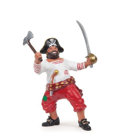 PIRATE WITH AXE FIGURINE