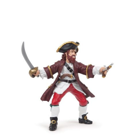 RED BARBAROSSA PIRATE FIGURINE
