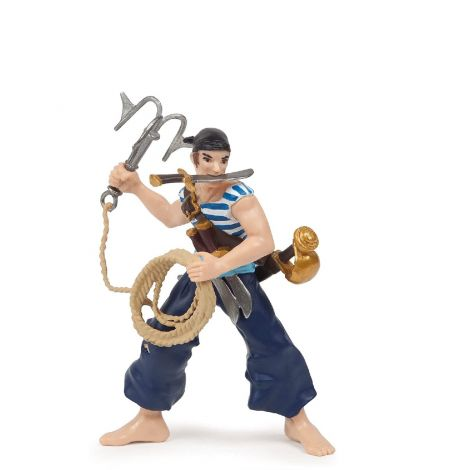 CORSAIR WITH GRAPNEL PIRATE FIGURINE