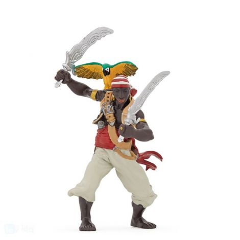 PIRATE WITH SABRES FIGURINE
