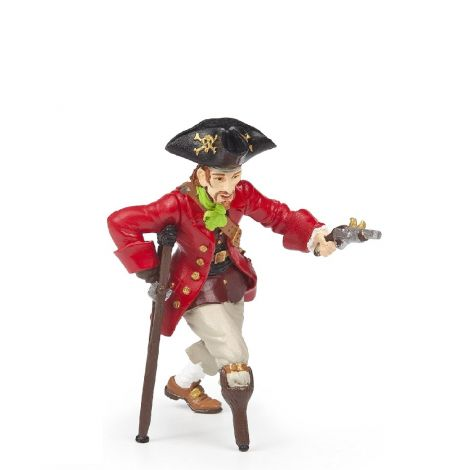 WOODEN LEG PIRATE WITH GUN FIGURINE