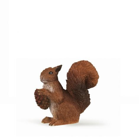 SQUIRREL WITH ACORN FIGURINE