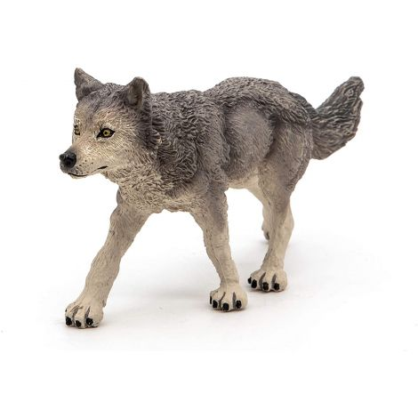 GREY WOLF FIGURINE