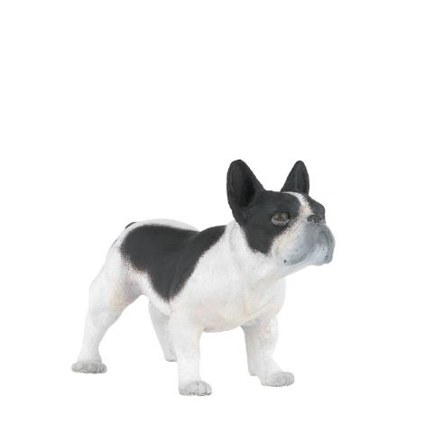 FRENCH BLACK & WHITE BULLDOG FIGURINE