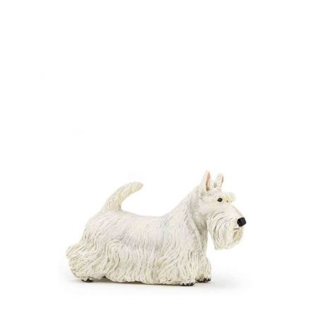 WHITE SCOTTISH TERRIER DOG FIGURINE