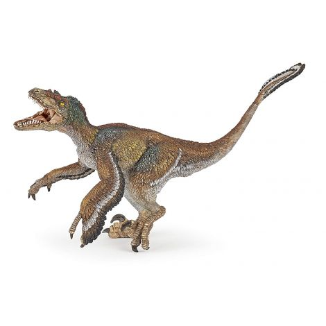 FEATHERED VELOCIRAPTOR DINOSAUR FIGURINE