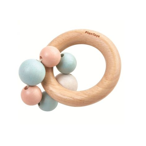 WOODEN BEADS TEETHING RATTLE