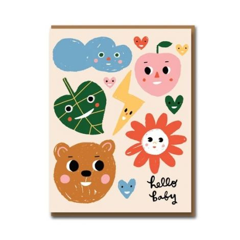 SUNNY FACES GREETING CARD, BY CAROLYN SUZUKI