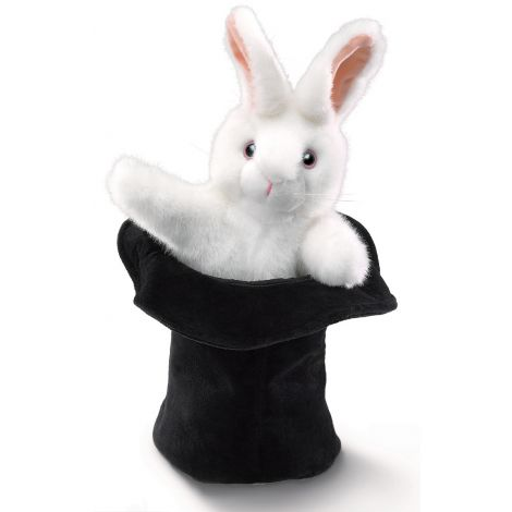 RABBIT-IN-HAT HAND PUPPET