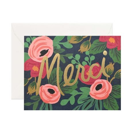 ROSA MERCI GREETING CARD, BY RIFLE PAPER CO.