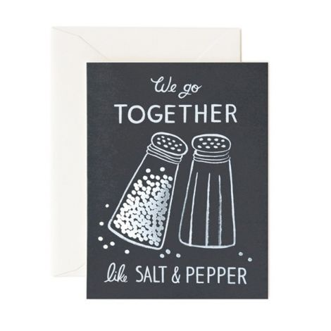 SALT & PEPPER GREETING CARD, BY RIFLE PAPER CO.