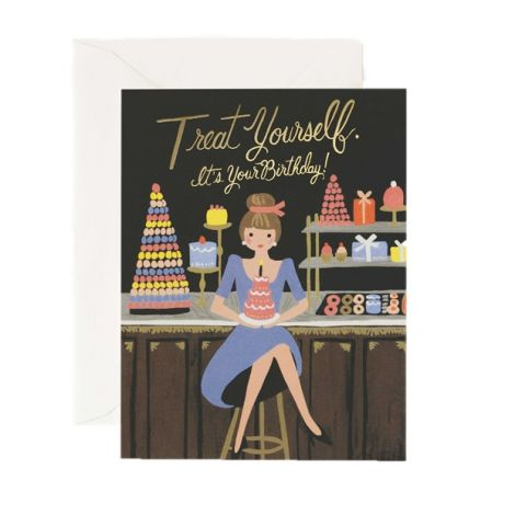 TREAT YOURSELF BIRTHDAY GREETING CARD, BY RIFLE PAPER CO.