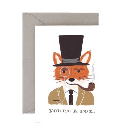 YOU'RE A FOX GREETING CARD, BY RIFLE PAPER CO.