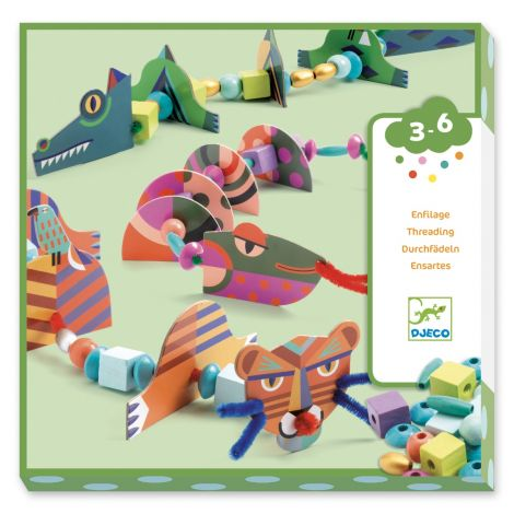 [PRE-ORDER: ETA END JUNE] CHENILLE PIPE CLEANER THREADING ACTIVITY SET: MY ANIMALS