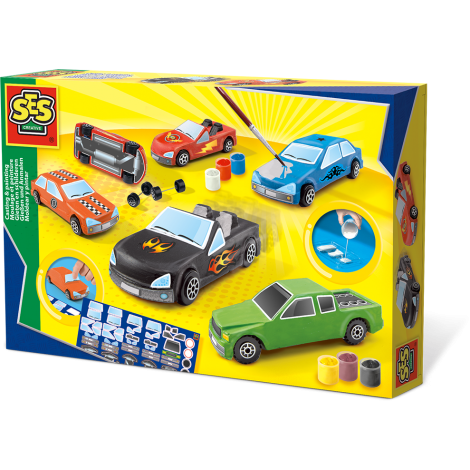 CASTING & PAINTING CRAFT SET: CARS