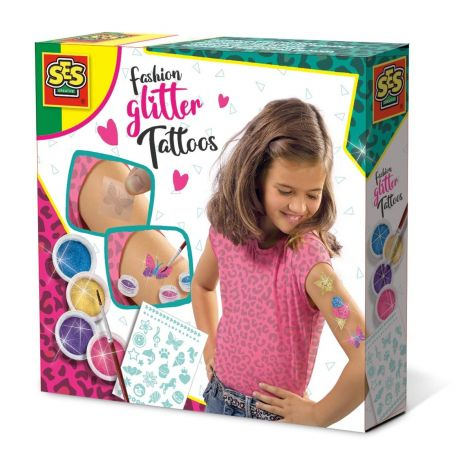 DIY GLITTER TATTOOS ACTIVITY SET