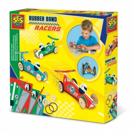 RUBBER BAND RACERS STEM CONSTRUCTION SET