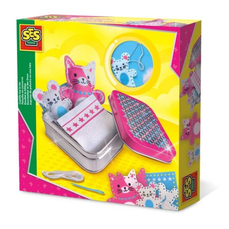 CREATE-YOUR-OWN CUDDLY TOY ACTIVITY TIN SET